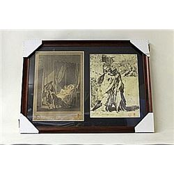 Framed 2-in-1 Engravings (231E-EK)