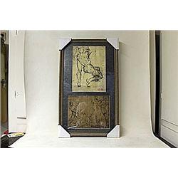 Framed 2-in-1 Engravings (242E-EK)