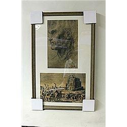 Framed 2-in-1 Engravings (246E-EK)