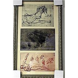 Framed 3-in-1 Engravings (247E-EK)