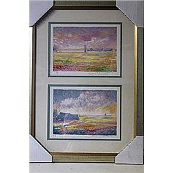 Framed 2-in-1-Jean Fernard Lithographs (248E-EK)