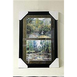 Framed 2-in-1 Camille Pissarroi Lithographs (249E-EK)