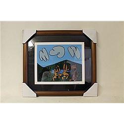 Linocut By Pablo Picasso. (259E-EK)