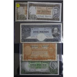 10 Shillings Eliza (2), George V! 1, QE11 5 Pound