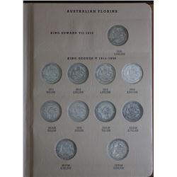 Australia Florin Set 1910 to 1963 (no Cent)