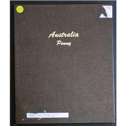 Australia Penny set 1911 to 1964 Supreme Album Above Average (no 25,30,46)
