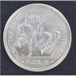 1934/35 Florin, Nice Gem Full Bloom
