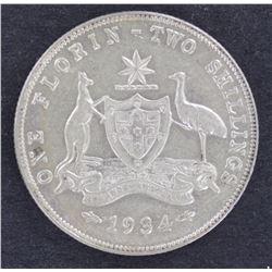 1934 Florin aUnc