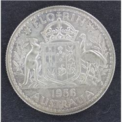 1956 Florin, Uncirculated