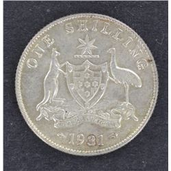 1931 Shilling Nearly Unc