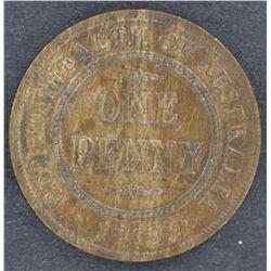 1919 Penny aUnc