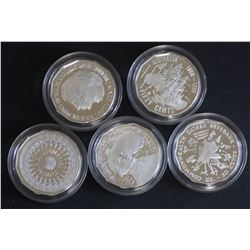 1989 50c proof, set of 5