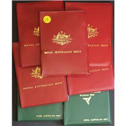1982 Mint Sets (3), 1978, 1979,1981 , 1983(2)