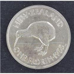 NZ 1935 Florin aUnc