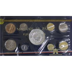 France Proof Set 1976 to Silver 5 Franc