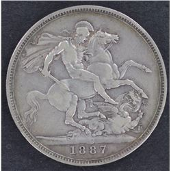 1887 Crown Good VF