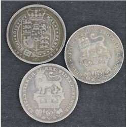 GB Sixpences 1824,1826,1829
