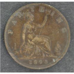 GB Farthing 1895 VF Scarce date