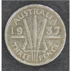 1937 Threepence Convincing Fake Altered Date