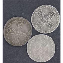 1697 Sixpence, 1746 6 Pence Fine