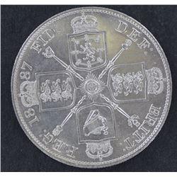 Great Britain 1887 Double Florin Choice Unc