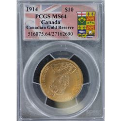 Canada 1914 $10 MS 64
