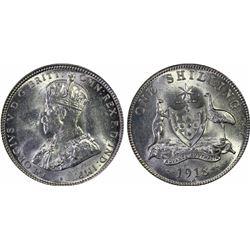 1918 Shilling MS 63