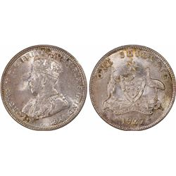 1927 Shilling MS 63