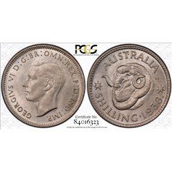 1938 Shilling MS 66