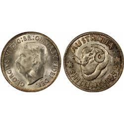 1952 Shilling MS 64