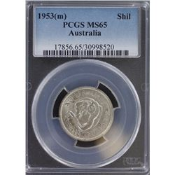 1953 Shilling MS 65