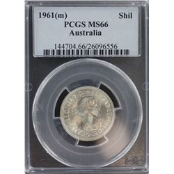 1961 Shilling MS 66