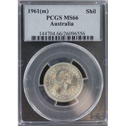 1961 Shilling MS 66