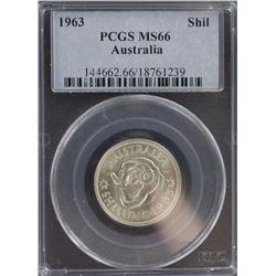 1963 Shilling MS 66 PCGS
