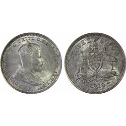 1910 Threepence MS 64