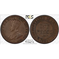 1920 Double Dot Penny VF 30
