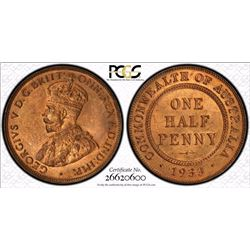 1933 Halfpenny MS 64 RB