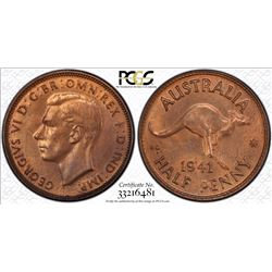1941 Halfpenny MS 64 RB