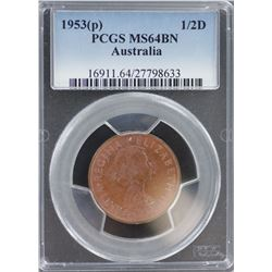 1953 Halfpenny MS 64 BN