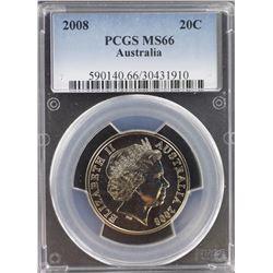 2008 20c MS 66