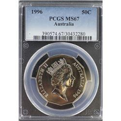 1996 50c MS 67