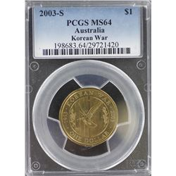 2003 S $1 Korean War MS 64