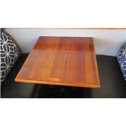 Koa Wood Table Top (29x30) w/Wall Mount Stand/Hardware