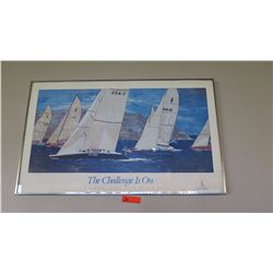 """Framed Poster: 1992 America's Cup Defense 37.5"""" x 23"""""""