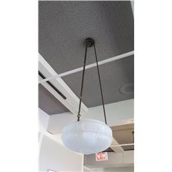 Hanging Ceiling Light Fixture w/Frosted Glass Dome (already removed from ceiling)