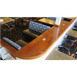 """Koa Wood Counter Panel (Cap) - Longest Section Approx. 21 ft, Widest Section 24"""""""