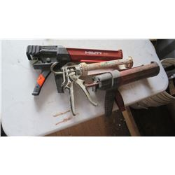 Qty 3 Caulking Guns: Hilti DSC, etc.