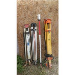 Qty 3 Leveling Tripod: Hilti PA 911, Medco, Porter Cable