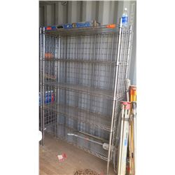 Qty 2 Commercial Caged Wire Shelving System (contents not included)
