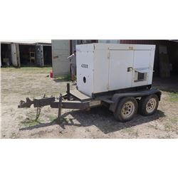 MQ Power Corp Whisperwatt 45KW Generator Model DCA 45SSIU II  (9647 Hours, Starts and runs, no known